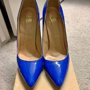 Christian Louboutin stunning Blue Heels